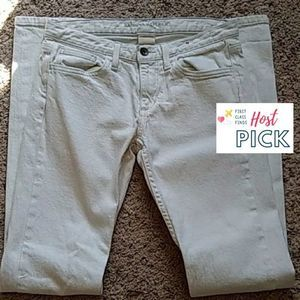 Banana Republic Straight Leg Jeans White Size 26